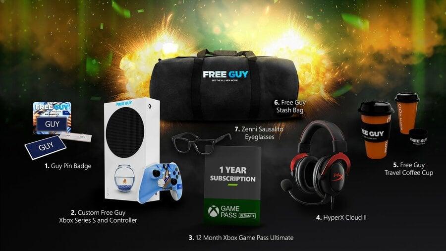 Microsoft Is Giving Away A Custom 'Free Guy' Xbox Series S