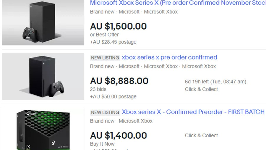 Yep, Scalpers Are Already Listing Xbox Series X On eBay - Xbox News