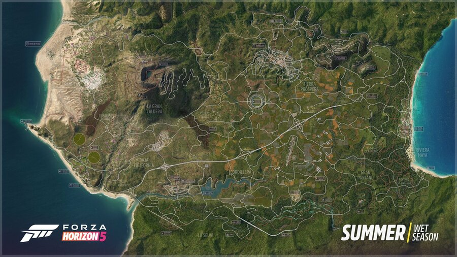 Here It Is, The Official Forza Horizon 5 Map