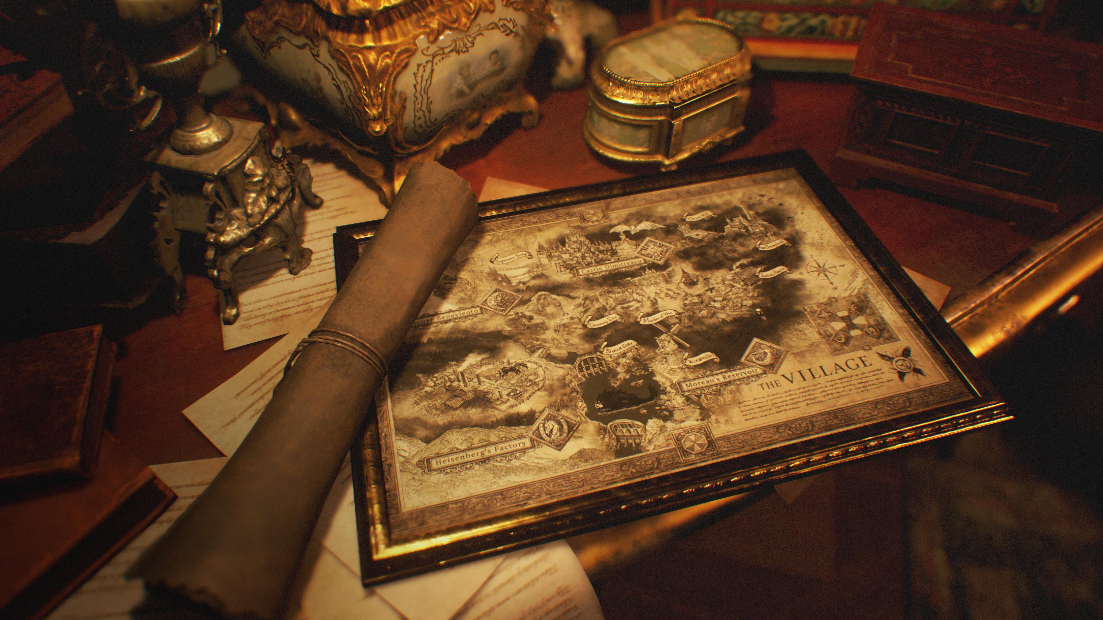Este es el primer vistazo oficial del mapa de Resident Evil Village 2