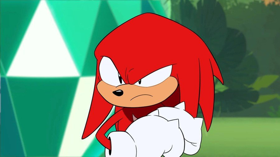 Knuckles The Echidna As Seen In Sonic Mania Adventures