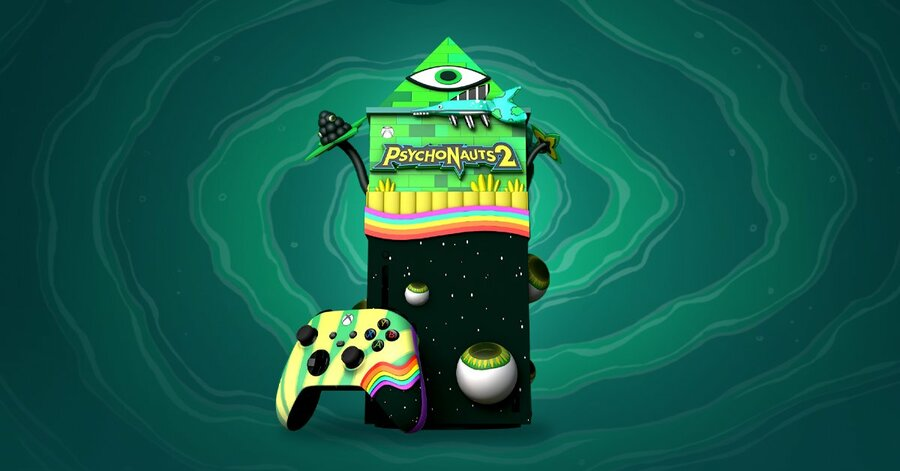 You Could Win This Insane Psychonauts 2 Xbox Series X With Microsoft Rewards