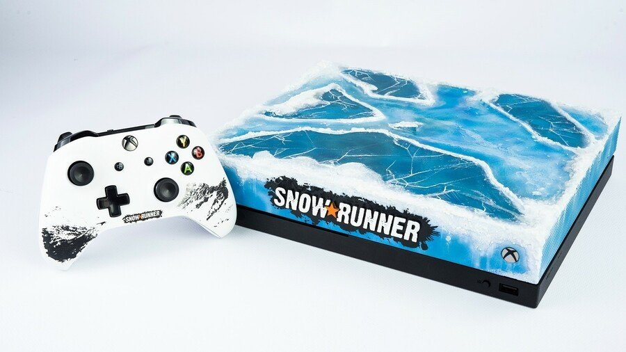 The SnowRunner Team Is Giving Away This Frosty Custom Xbox One X