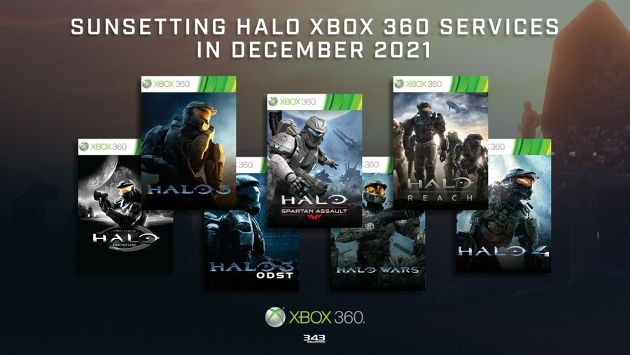 The Halo Xbox 360 Games Shutting Their Online Services Next Year