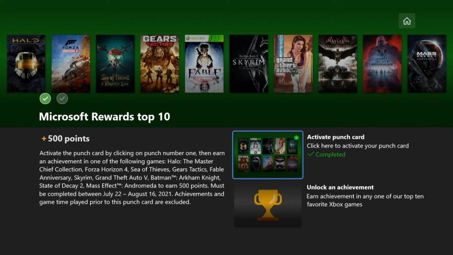 Microsoft Rewards : gagnez 500 points faciles avec ce nouveau « Top 10 » Xbox Challenge 2
