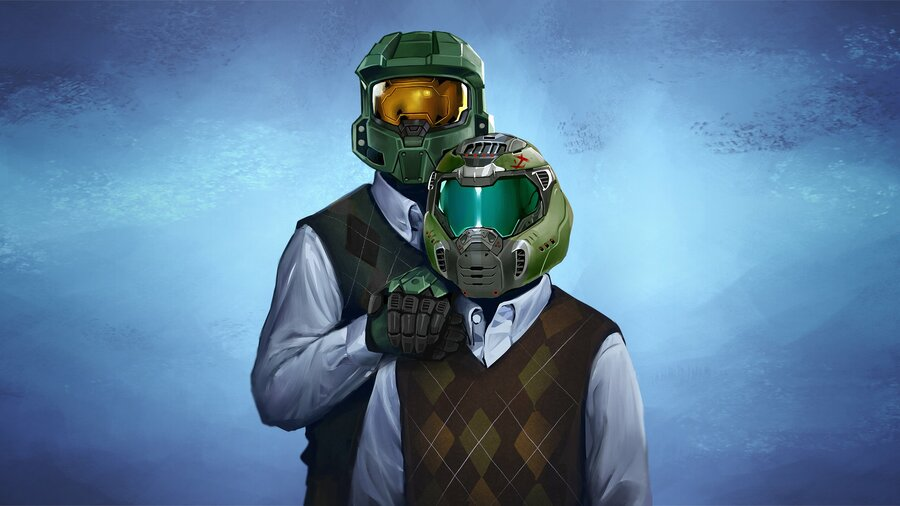 Halo And DOOM Portrait From Xbox Is The First Of Many