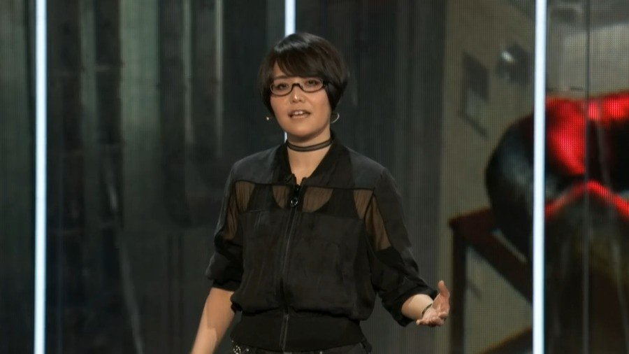 Ikumi Nakamura up on stage at Bethesda's E3 2019 press conference