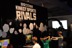 Kinect Sports Rivals is proving popular.