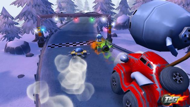 Racing in a winter wonderland.
