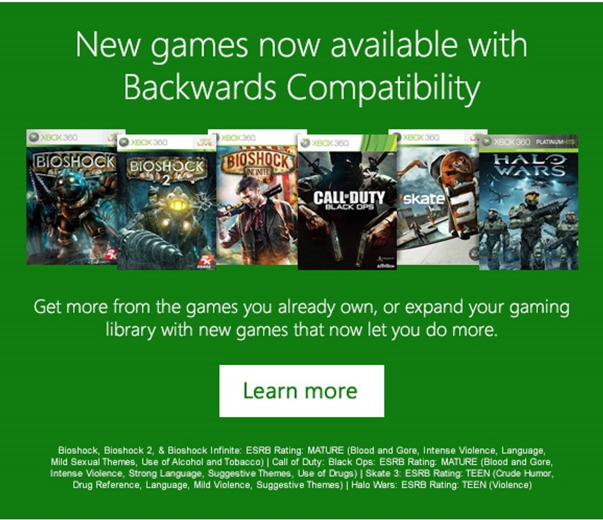 Xbox One Backwards Compatibility Gets Bioshock, Black Ops, Skate 3