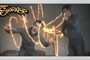 Kinect Fun Labs: Kinect Sparkler Screenshot