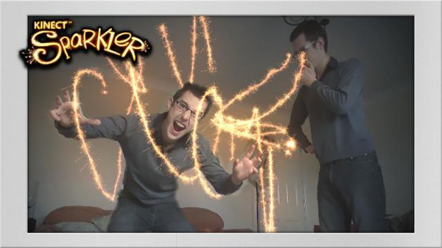 Kinect Fun Labs: Kinect Sparkler Review - Screenshot 1 of 2