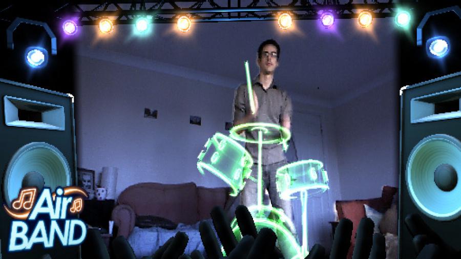 Kinect Fun Labs: Air Band Review - Screenshot 1 of 3