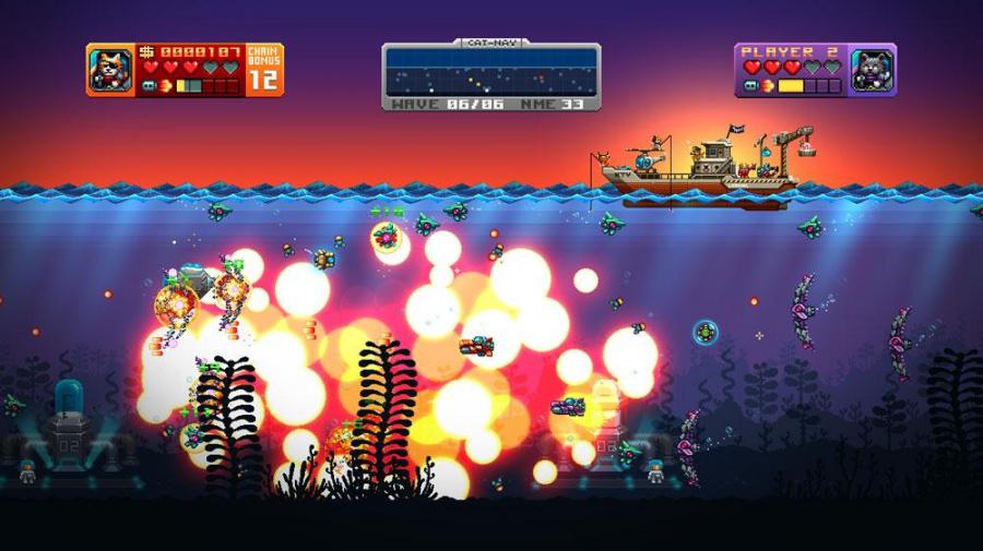Aqua Kitty - Milk Mine Defender Review - Screenshot 1 of 4